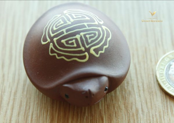 Hand Painted Clay Lucky Turtle Tea Pet