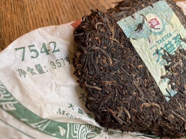 Menghai Tea Factory 7542 Puerh Tea Cake